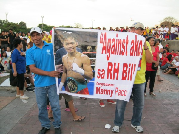 Pacquiao Against RH Bill