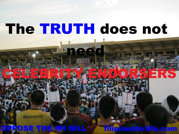 Truth Doesn't need celebrity endorsers