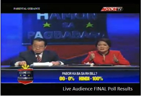 100% Against RH Bill - TV5 RH Bill debate.