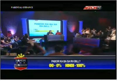 """100% of """"undecided"""" TV studio audience votes """"NOT IN FAVOR OF THE RH"""